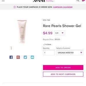 Rare pearls shower gel